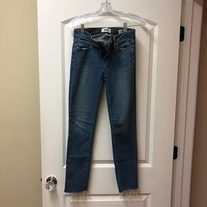 Paige Denim, light wash cropped jeans